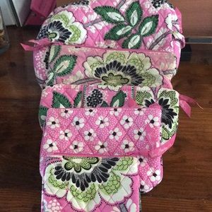 Vera Bradley makeup set 5 pieces